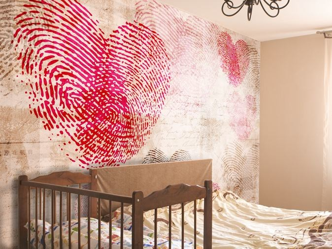 Vinyl wallpaper HEARTPRINT by GLAMORA