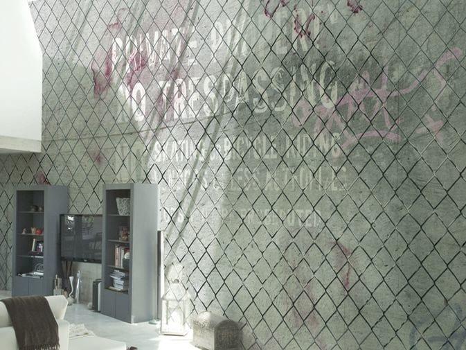 Motif vinyl wallpaper OFF LIMITS by GLAMORA