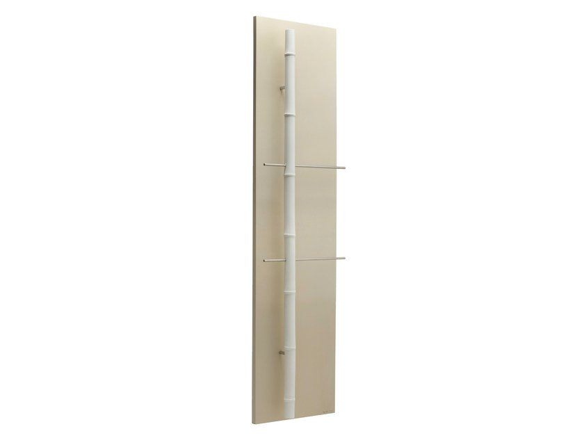 Vertical Olycale® towel warmer BAMBOU CLAIR by Cinier