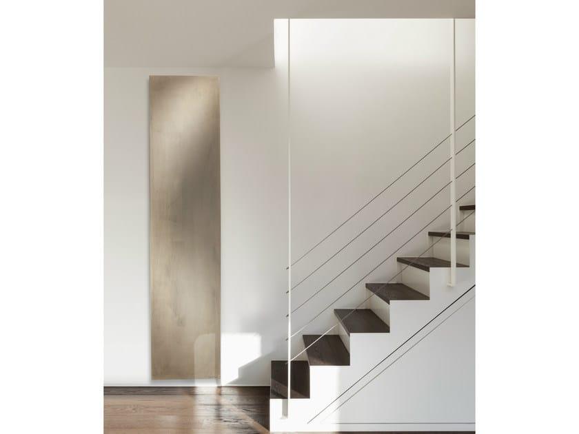 Vertical Olycale® panel radiator BETON by Cinier