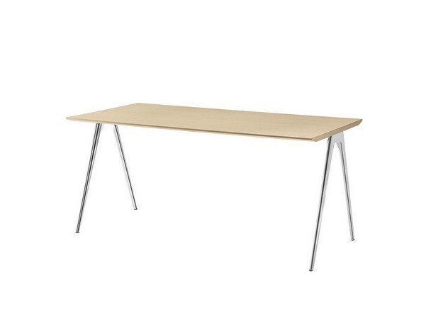 Folding rectangular meeting table A-TABLE by Brunner