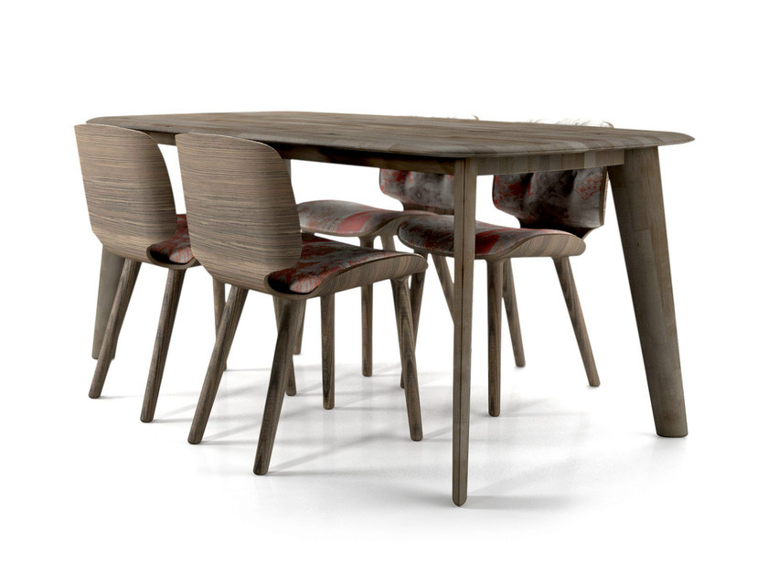 Rectangular oak table TAPERED TABLE by moooi