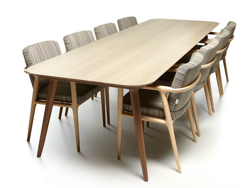 Rectangular oak table ZIO DINING TABLE by moooi
