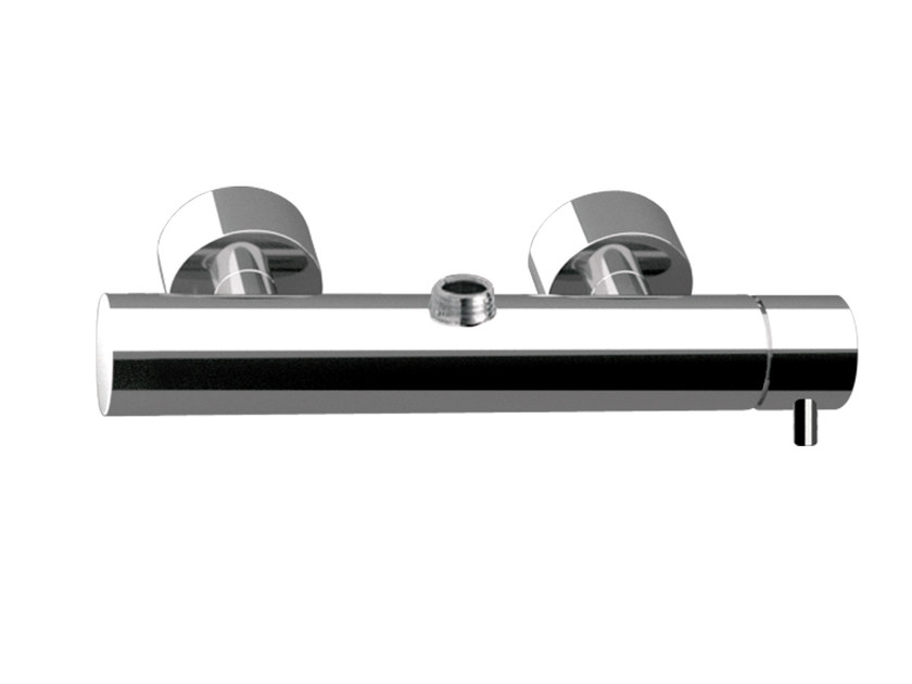 Single handle chromed brass shower mixer with diverter MINIMAL   Shower mixer by Remer Rubinetterie