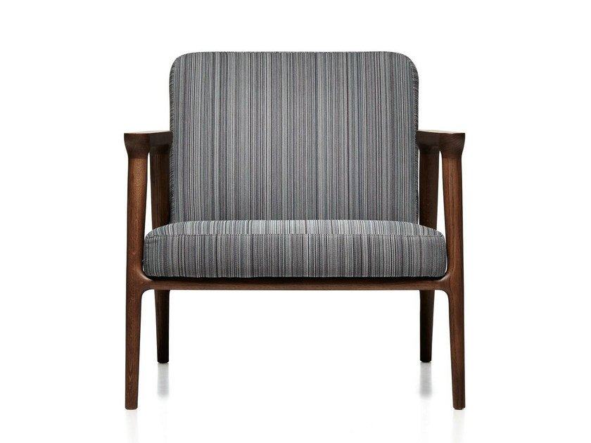 Upholstered armchair with armrests ZIO LOUNGE CHAIR by moooi