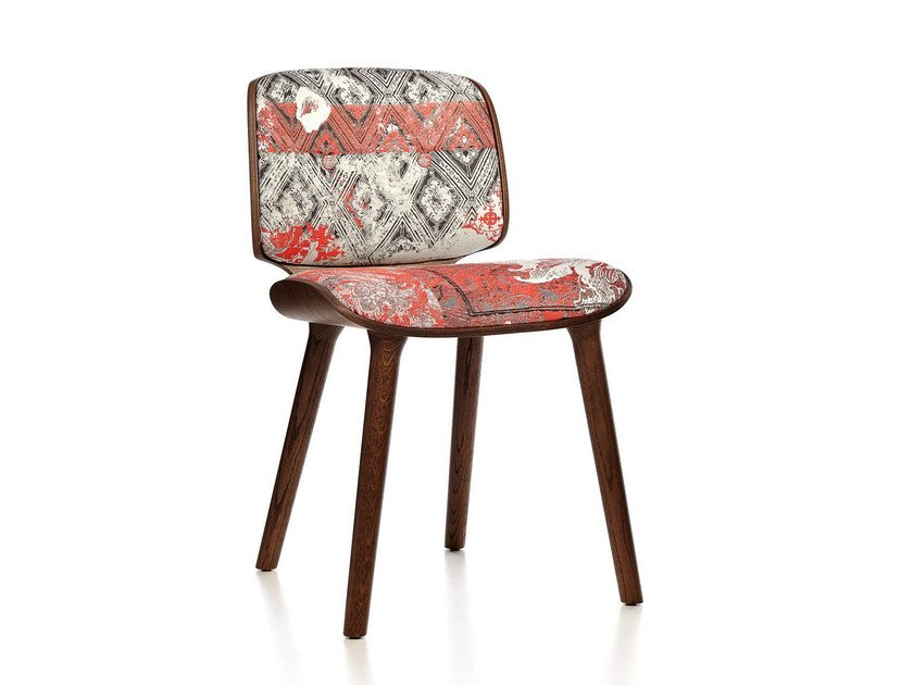 Upholstered chair NUT DINING CHAIR by moooi