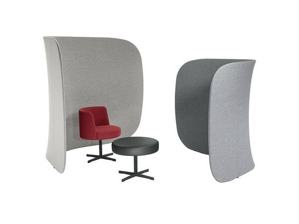 Free standing workstation screen BUTTERFLY by Brunner