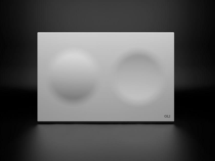 Ceramic flush plate MOON by OLI