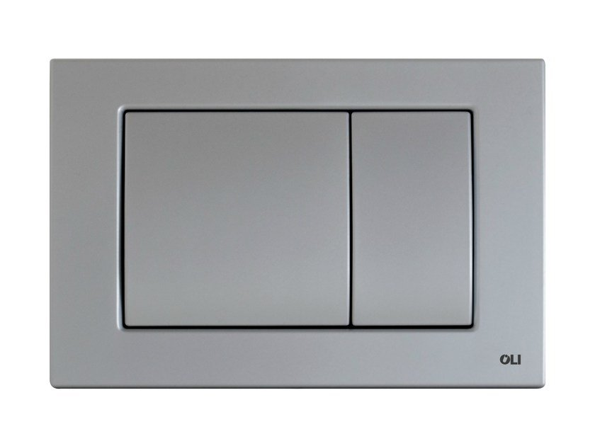 Brushed steel flush plate METAL DUAL | Brushed steel flush plate by OLI