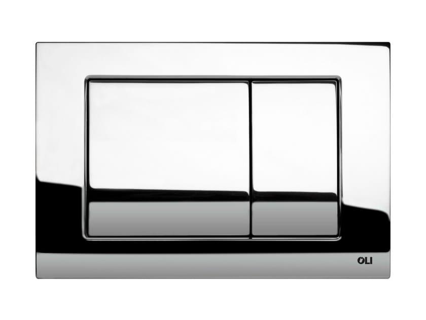 Glossy steel flush plate METAL DUAL   Glossy steel flush plate by OLI
