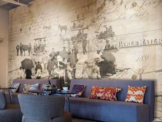 Writing vinyl wallpaper BOARDWALK by GLAMORA