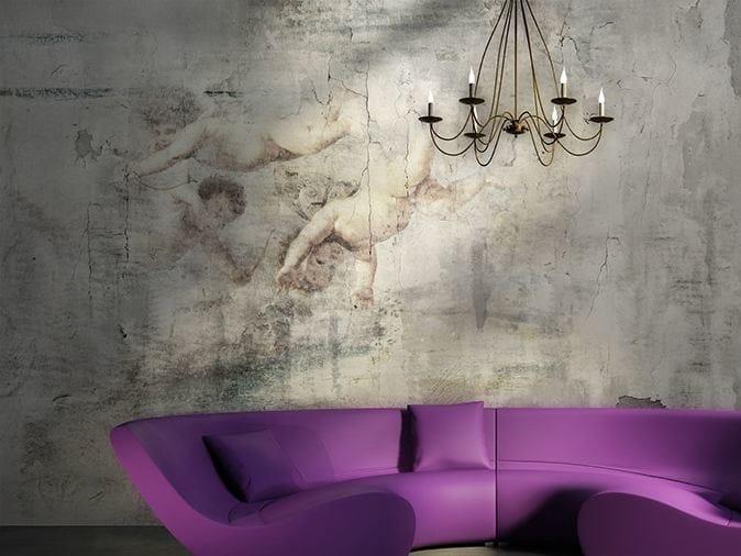 Wall effect vinyl wallpaper MILLENNIAL by GLAMORA