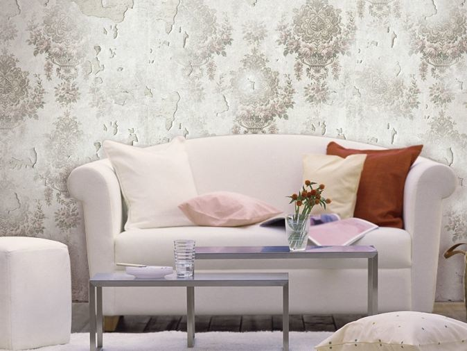Damask vinyl wallpaper CELANT by GLAMORA