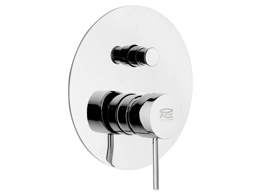 Chromed brass shower mixer with diverter MINIMAL COLOR | Shower mixer with diverter by Remer Rubinetterie