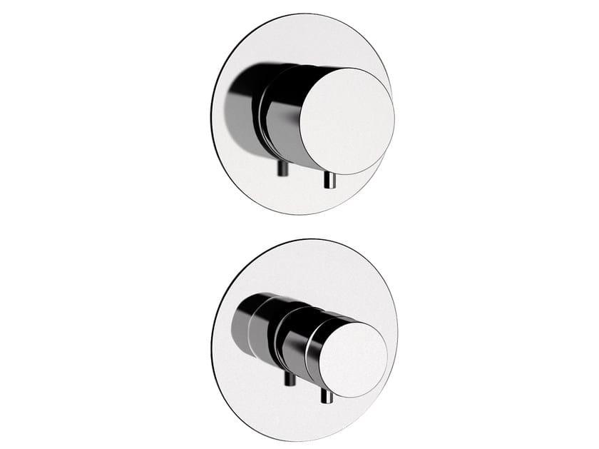 Chromed brass shower tap with diverter MINIMAL THERMO | Shower tap with diverter by Remer Rubinetterie