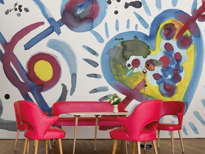 Motif vinyl wallpaper CUPID 2.0 by GLAMORA
