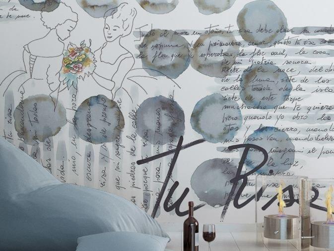 Writing vinyl wallpaper BUBBLE CHAT by GLAMORA