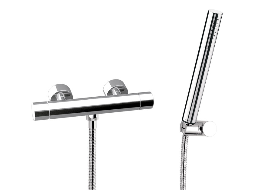Single handle thermostatic shower mixer with hand shower MINIMAL THERMO | Thermostatic shower mixer with hand shower by Remer Rubinetterie