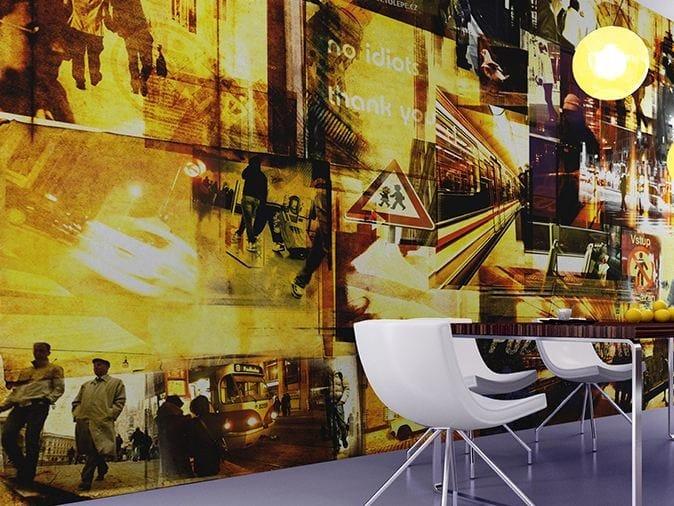Landscape vinyl wallpaper SCHIZOID by GLAMORA