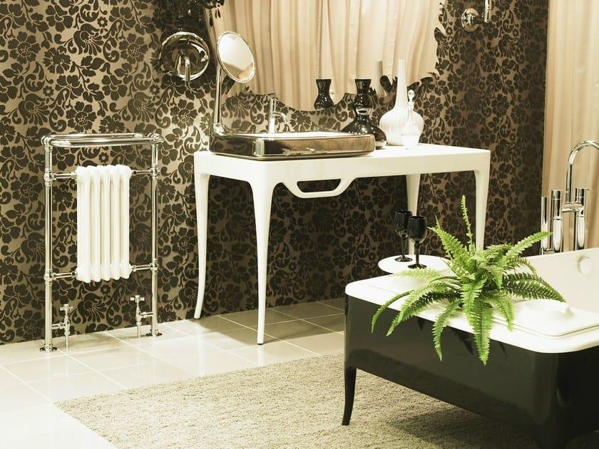 Chrome cast iron decorative radiator CHARLES by Cinier