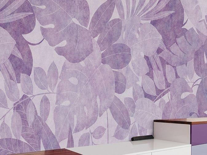 Motif vinyl wallpaper MOOD INDIGO by GLAMORA