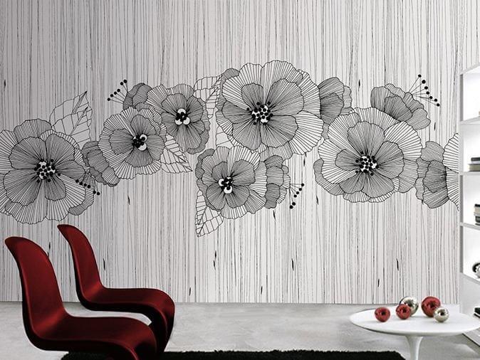 Vinyl wallpaper with floral pattern MANHATTAN by GLAMORA