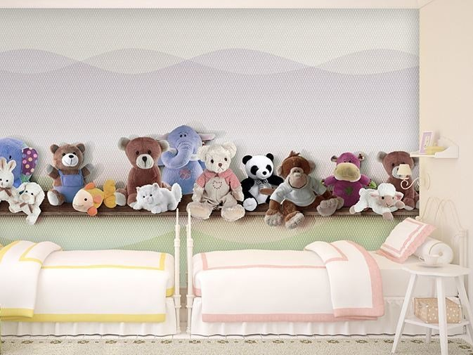 Vinyl kids wallpaper PELUCHES by GLAMORA