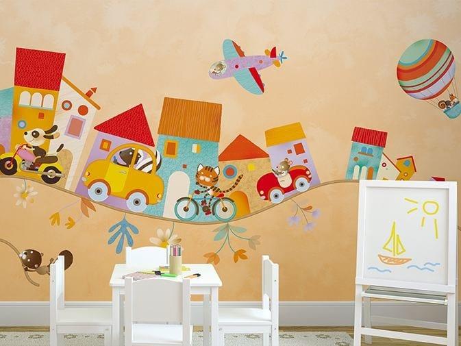 Carta Da Parati Per Armadi Bambini : Carta da parati in vinile per bambini lullaby by glamora