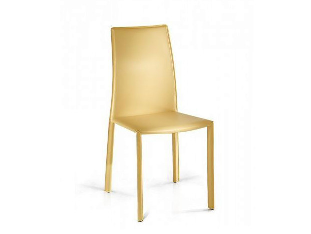 Tanned leather chair VENICE | Chair by Castellani.it