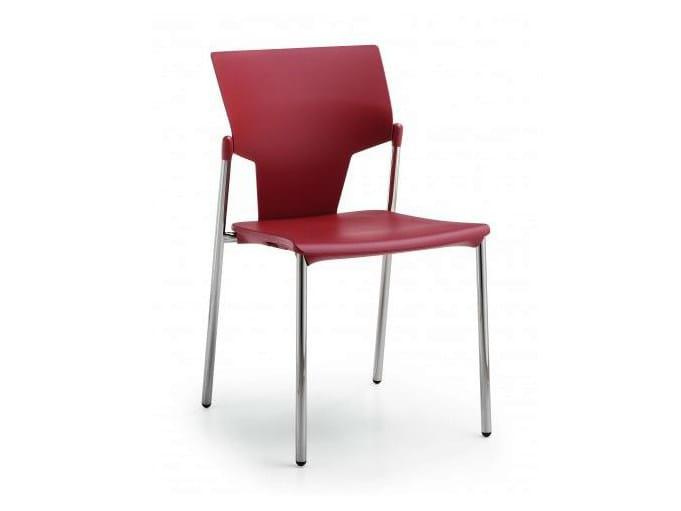 Polypropylene reception chair FLUX | Chair by Castellani.it