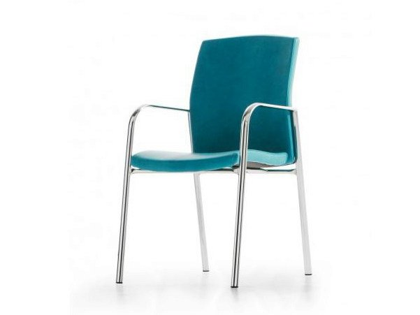 Fabric reception chair with armrests ONYX by Castellani.it