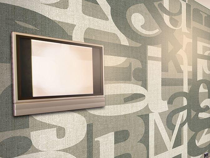 Writing vinyl wallpaper TYPE SET by GLAMORA