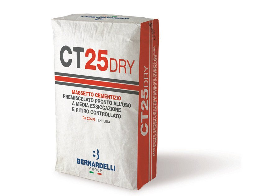 Massetto premiscelato CT25DRY by Bernardelli Group