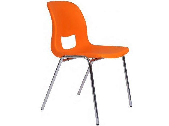 Stackable polypropylene chair with linking device SED by Castellani.it