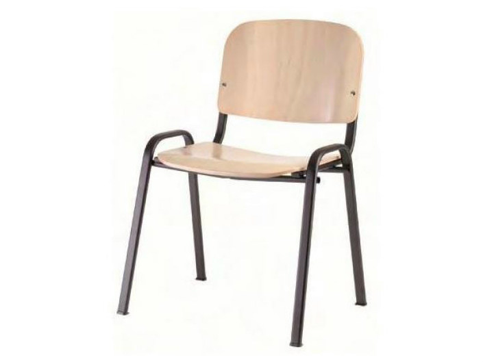 Stackable wooden training chair SED WOOD by Castellani.it