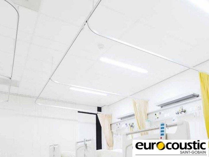 Fireproof ceiling tiles for healthcare facilities CLINI'SAFE by Saint-Gobain Gyproc