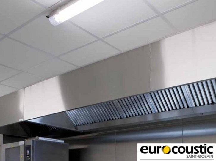 Rock wool ceiling tiles for healthcare facilities CLINI'CLEAN by Saint-Gobain Gyproc