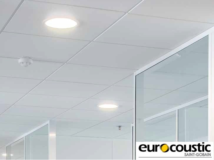 Acoustic rock wool ceiling tiles SAMOA® E by Saint-Gobain Gyproc