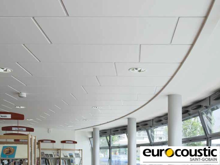 Acoustic rock wool ceiling tiles EQUATION® by Saint-Gobain Gyproc