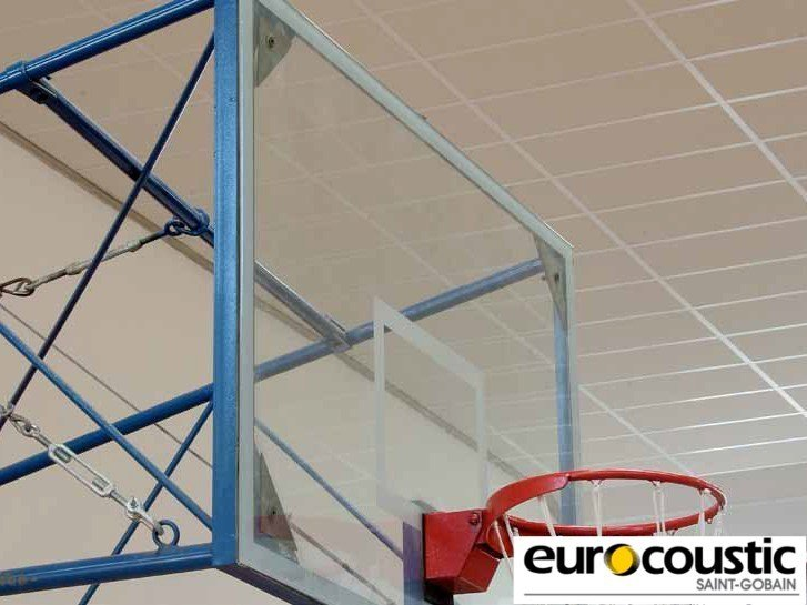 Acoustic rock wool ceiling tiles ACOUSTICHOC® IMPACT 30 by Saint-Gobain Gyproc