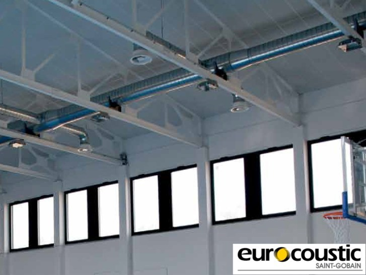 Acoustic rock wool ceiling tiles ACOUSTISPORT® by Saint-Gobain Gyproc