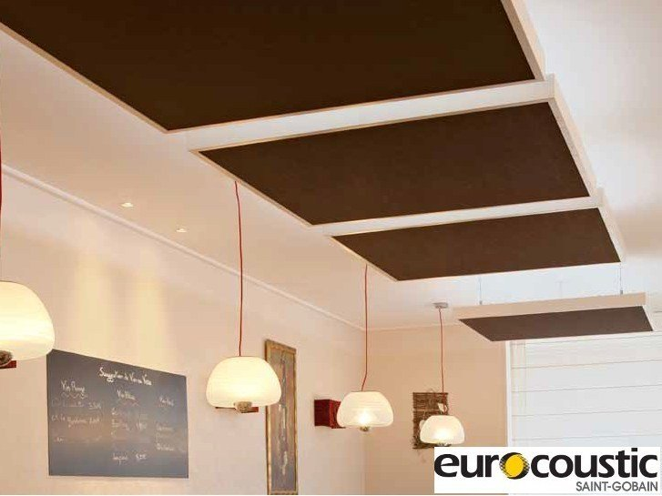Rock wool acoustic ceiling clouds INSULA® by Saint-Gobain Gyproc