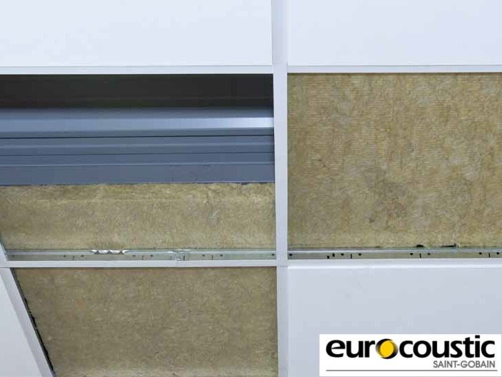 Rock wool Sound insulation and sound absorbing panel in mineral fibre EUROLÈNE® by Saint-Gobain Gyproc