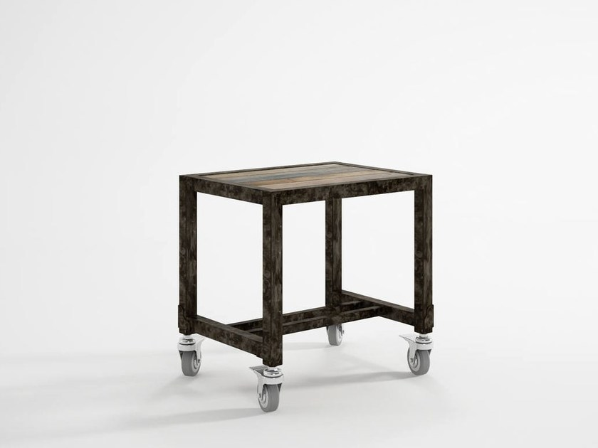 Ak sgabello con ruote by karpenter design hugues revuelta
