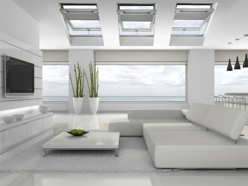 Finestra da tetto a bilico in legno lamellare style plus for Finestra da tetto