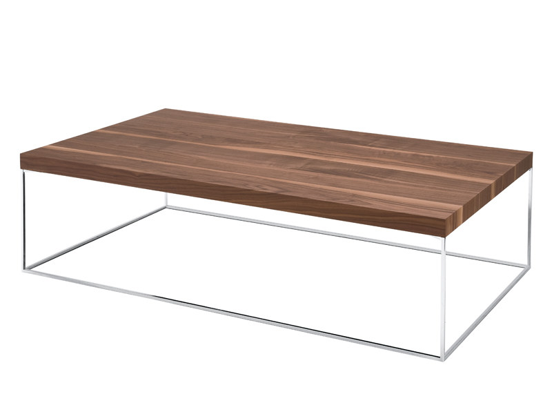 Rectangular wood veneer coffee table OLIVER by Zanotta
