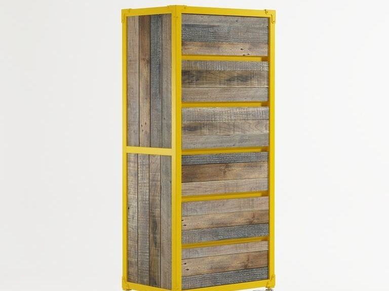 Wooden chest of drawers with casters AK- 14 | Chest of drawers by KARPENTER