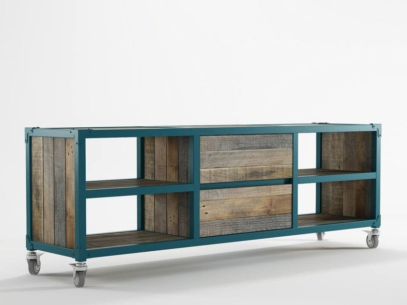 Wooden TV cabinet / sideboard AK- 14 | Sideboard with drawers by KARPENTER