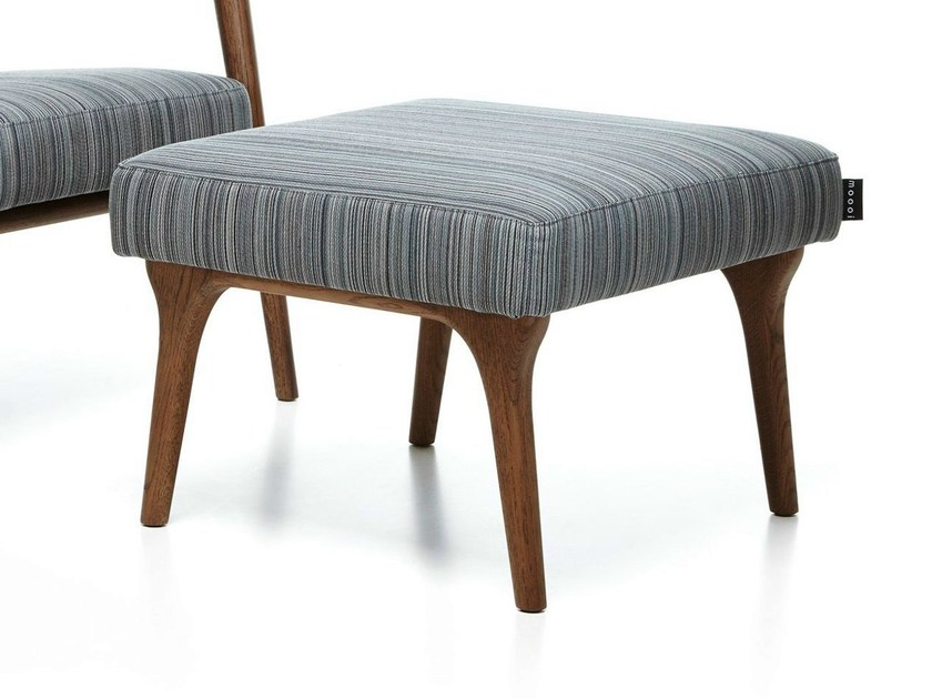 Fabric footstool ZIO FOOTSTOOL by moooi
