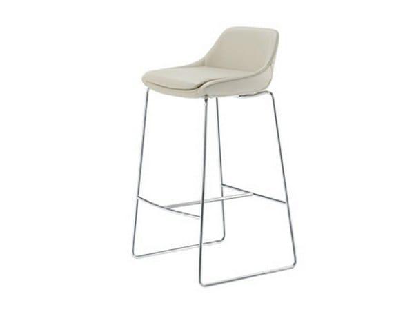 Sled base stool with footrest CRONA BAR | Sled base stool by Brunner